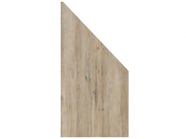 Sichtschutzzaun BOARD KERAMIK Abschlusselement Keramikplatte in Holzoptik
