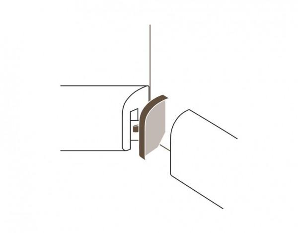 Innenecken für Sockelleiste Typ 1 SL 2 Alu-Optik