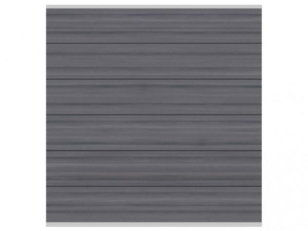 Sichtschutzzaun SYSTEM WPC Platinum XL Zaunfeld-Set Grau