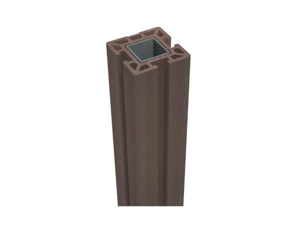 Pfosten BPC Solid Nero Braun